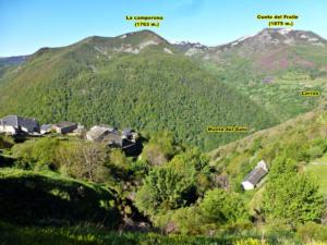 Vistas a la ruta contornos de Corros desde Brañas de Arriba