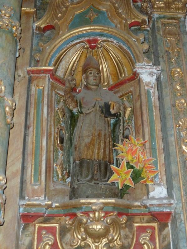 Imagen de San Luis de Toulouse, capilla del Cristo, Xedré.