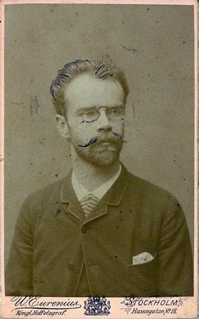 Åke W:son Munthe en Estocolmo (Suecia), hacia 1886. Fotografía de Wilhelm A. Eurenius (1830-1892)