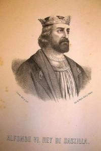 Alfonso VI, rey de Castilla y León, primo carnal de la madre de doña Jimena