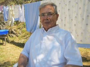 José Fernández Rodríguez, en su casa de Villacanes, el 26 de julio de 2013